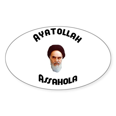 Ayatollah Assahola Oval Sticker