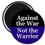Against the War, Not the Warrior Magnet