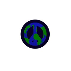 "Earth Peace Sign Mini 1"" Button"