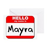 Hello my name is Mayra Greeting Card