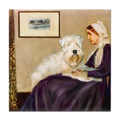 Mom's Wheaten Terrier Tile Coaster