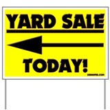 YARD SALE TODAY! (Left Arrow) Yard Sign