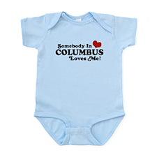 Somebody In Columbus Loves Me Infant Bodysuit