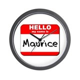 Hello my name is Maurice Wall Clock