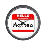 Hello my name is Matteo Wall Clock