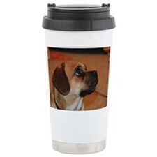 Dog-puggle Ceramic Travel Mug