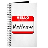Hello my name is Mathew Journal