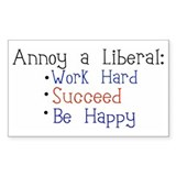 Annoy a Liberal Rectangle Decal