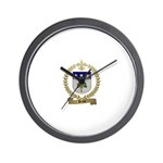 BRAUD Family Crest Wall Clock