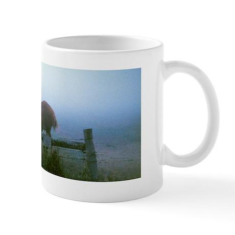 Belgian Draft Horses in the Morning Calm Mug