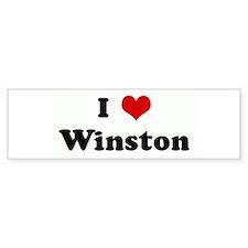 I Love Winston Bumper Bumper Sticker