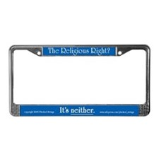 Religious Right is Neither License Plate Frame