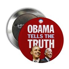 "Obama Tells Truth Red 2.25"" Button (10 pack)"