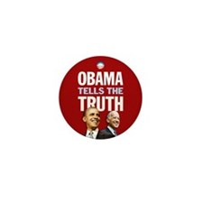 Obama Tells Truth Red Mini Button (10 pack)