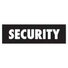 SECURITY - BumperBumper Sticker