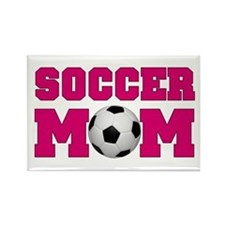 Soccer Mom - Hot Pink Rectangle Magnet