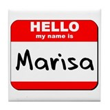 Hello my name is Marisa Tile Coaster