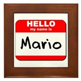 Hello my name is Mario Framed Tile