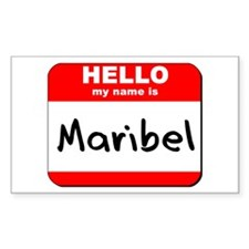 Hello my name is Maribel Rectangle Decal