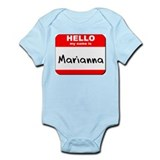 Hello my name is Marianna Onesie