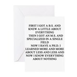 phd doctorate professor Greeting Cards (Pk of 20)