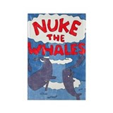 Nuke the Whales Rectangle Magnet (10 pack)