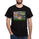 Lilies2/Pomeranian #4 Dark T-Shirt