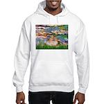 Lilies2/Pomeranian #4 Hooded Sweatshirt