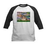 Lilies2/Pomeranian #4 Kids Baseball Jersey