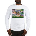 Lilies2/Pomeranian #4 Long Sleeve T-Shirt