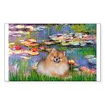 Lilies2/Pomeranian #4 Sticker (Rectangle)