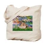 Lilies2/Pomeranian #4 Tote Bag