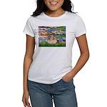 Lilies2/Pomeranian #4 Women's T-Shirt