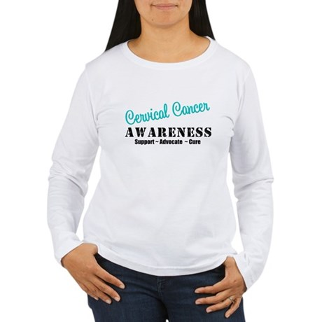 Cervical Cancer Women's Long Sleeve T-Shirt