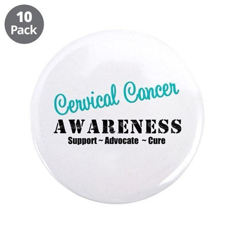 "Cervical Cancer 3.5"" Button (10 pack)"