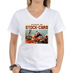 French Racing Women's V-Neck T-Shirt