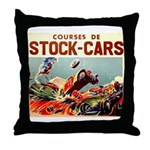 French Racing Throw Pillow
