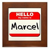 Hello my name is Marcel Framed Tile