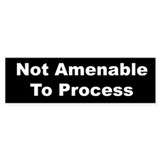 Not Amenable Bumper Sticker (10 pk)