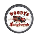 WOODIE'S LONG BOARDS Wall Clock