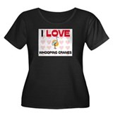 I Love Whooping Cranes Women's Plus Size Scoop Nec