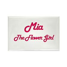 Mia - The Flower Girl Rectangle Magnet