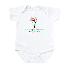 Christmas Wish Kidney Infant Bodysuit