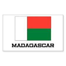 Madagascar Flag Rectangle Decal