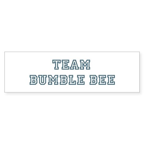 Team Bumble Bee Bumper Sticker