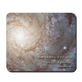 """Center of the galaxy"" mouse pad"