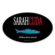 Sarahcuda Oval Sticker (10 pk)