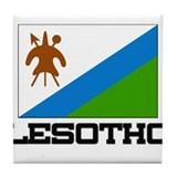 Lesotho Flag Tile Coaster