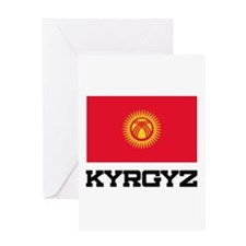 Kyrgyz Flag Greeting Card