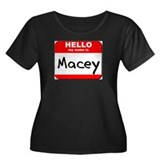 Hello my name is Macey Women's Plus Size Scoop Nec